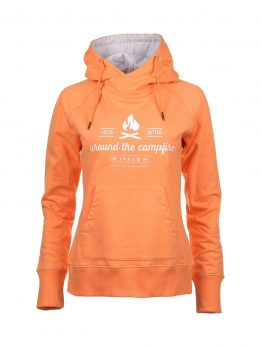IVALO Nuotio apricot women's hoodie front