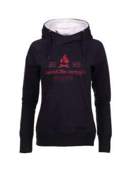 IVALO Nuotio naisten navy blue hoodie front