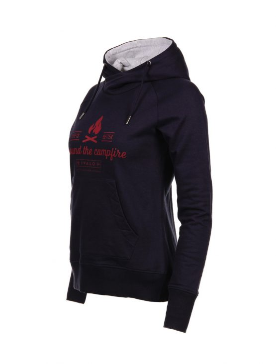 IVALO Nuotio naisten navy blue hoodie side