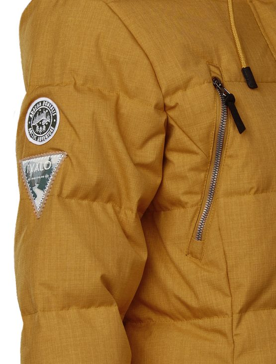 ivalo yellow down jacket