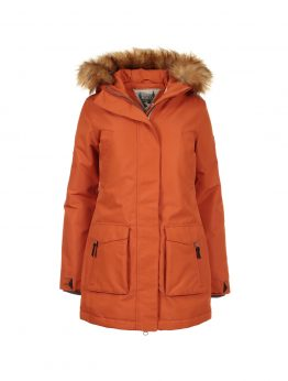 IVALO TUISKU women's winter parka jacket rusty orange 1