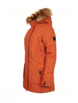 IVALO TUISKU women's winter parka jacket rusty orange