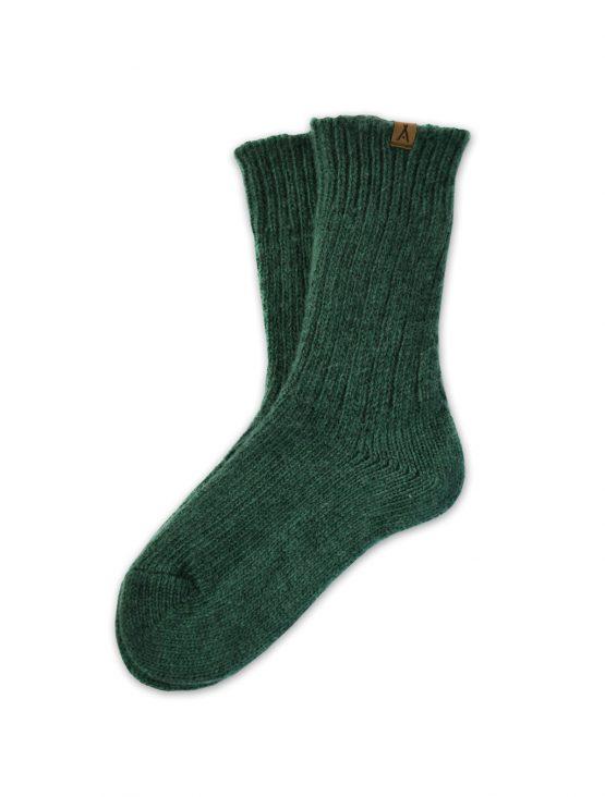 Ivalo Tupa forest green woolen socks