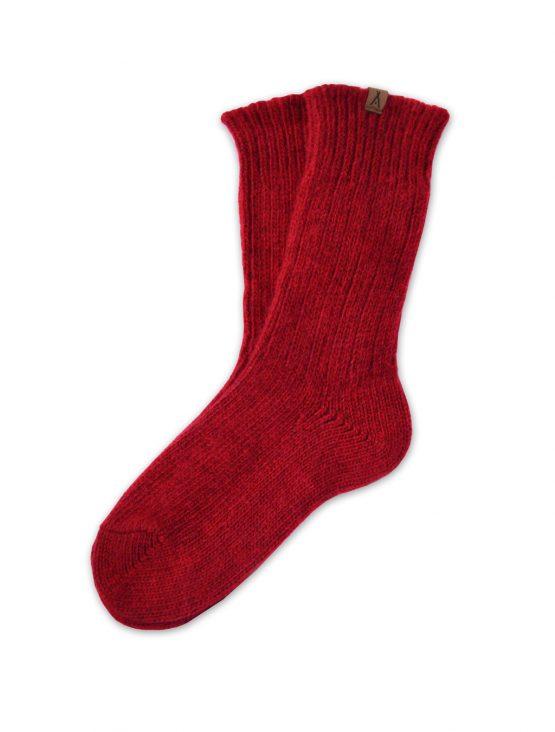 Ivalo Tupa red woolen socks