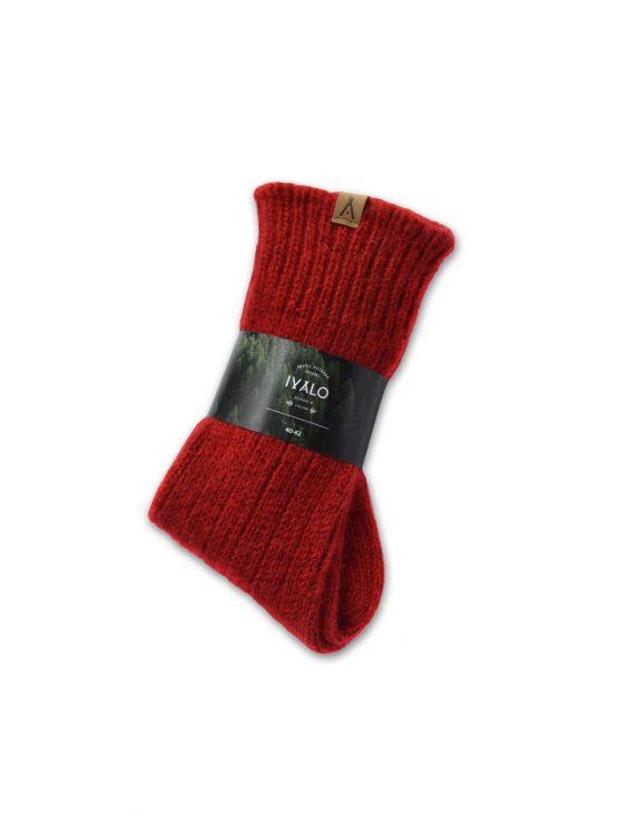 Ivalo Tupa red woolen socks 2