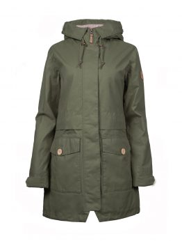 HILJA women's green parka jacket