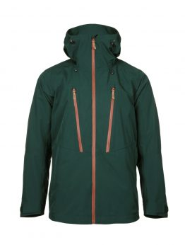 Ohto men's green waterproof shell jacket front