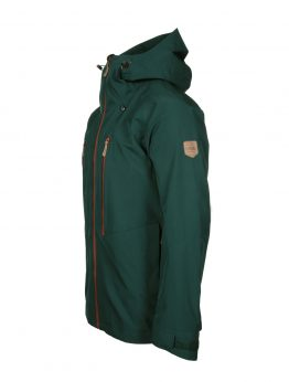 Ohto men's green waterproof shell jacket side