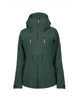 Outa women's green waterproof shell jacket 1