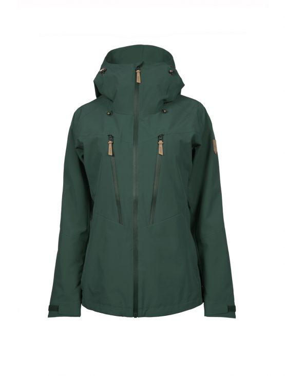 Outa women's green waterproof shell jacket 1