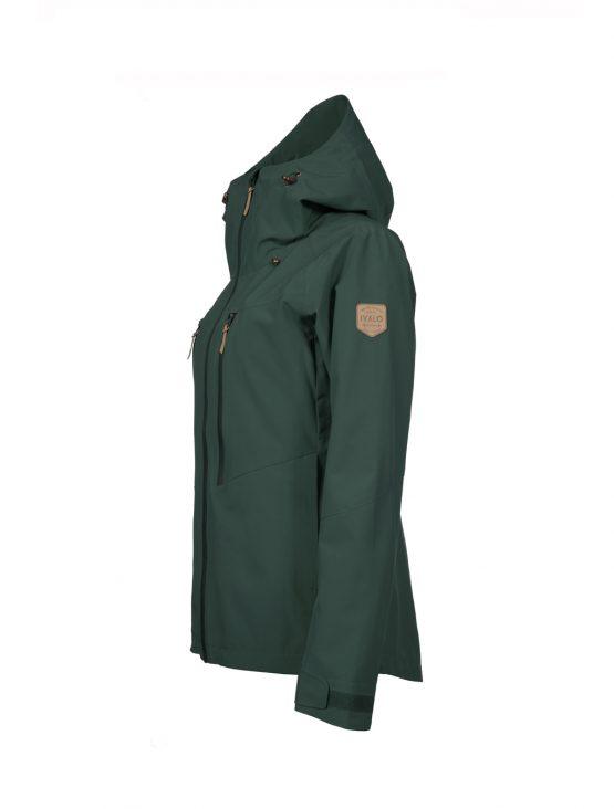Outa women's green waterproof shell jacket 2