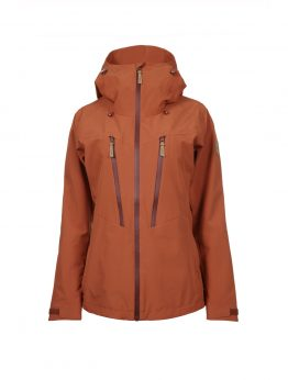 Outa women's orange waterproof shell jacket 1