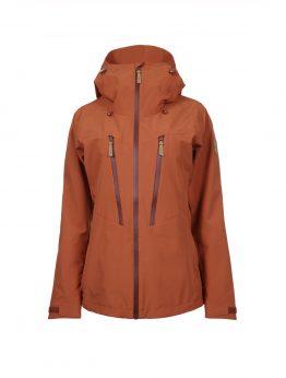 Outa women's orange waterproof shell jacket 1