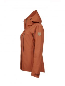 Outa women's orange waterproof shell jacket 2