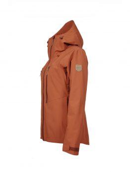 Outa women's orange waterproof shell jacket 2