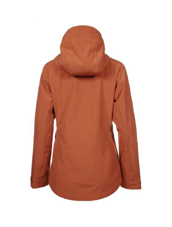 Outa women's orange waterproof shell jacket 3